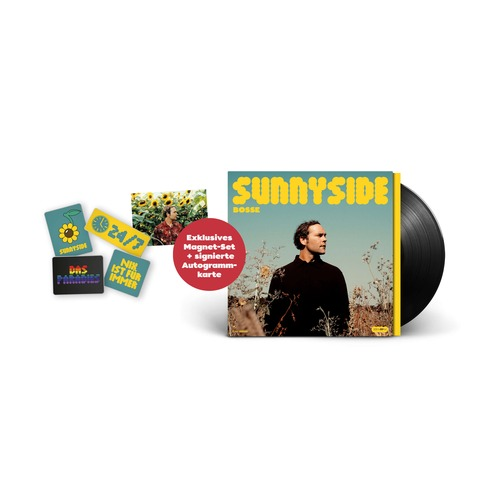 Sunnyside (Ltd Bundle: LP + 4er-Magneten Set + Signierte Karte) by Bosse - LP + Magneten Set + Karte - shop now at Bosse store